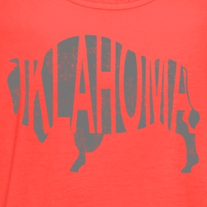 Oklahoma Bison - Distress T-Shirts - Women's Flowy Tank Top by Bella