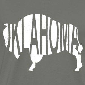 Oklahoma Bison -White Hoodies - Men's Premium T-Shirt