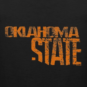 Oklahoma State Shape -Org Long Sleeve Shirts - Men's Premium Tank