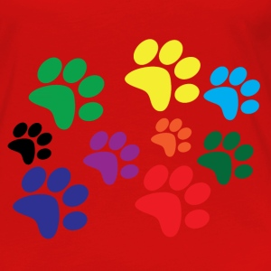 Colorful dog paws Tanks - Women's Premium Long Sleeve T-Shirt