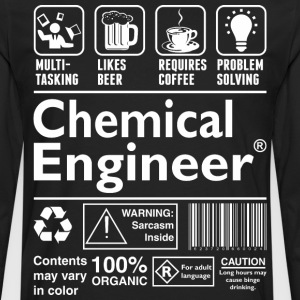 Beer Coffee Problem Solving Chemical Engineer - Men's Premium Long Sleeve T-Shirt