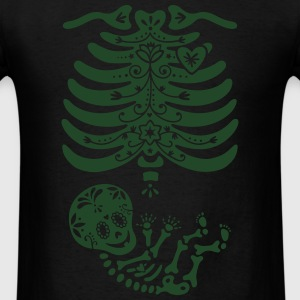 Sugar Skull Maternity Skeleton Skelly Baby Long Sleeve Shirts - Men's T-Shirt