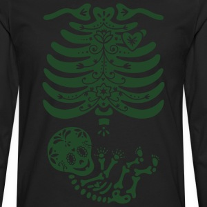 Sugar Skull Maternity Skeleton Skelly Baby T-Shirts - Men's Premium Long Sleeve T-Shirt