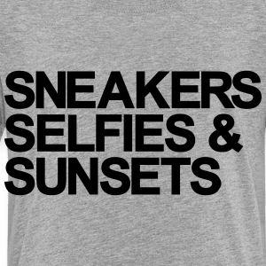 Sneakers Selfies Sunset Kids' Shirts - Toddler Premium T-Shirt