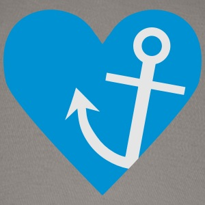 Anchor with heart Tanks - Baseball Cap