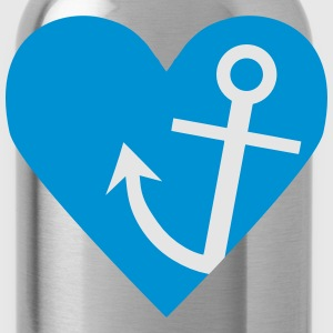 Anchor with heart Tanks - Water Bottle