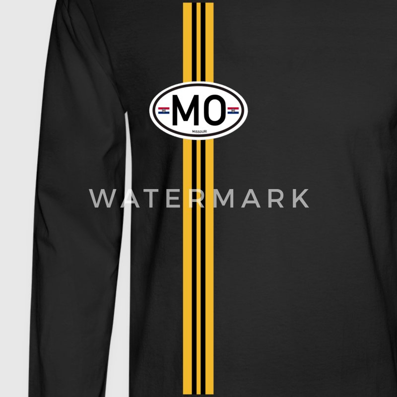 Missouri Racing Stripe 5 Long Sleeve Shirts - Men's Long Sleeve T-Shirt
