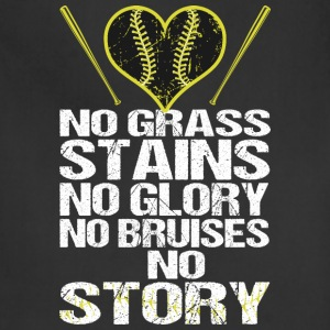 No Grass Stains No Glory No Bruises No Story - Adjustable Apron