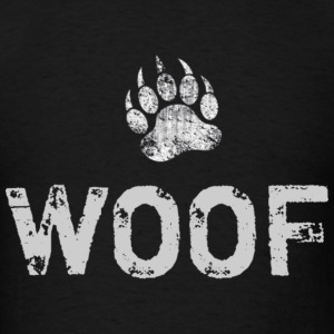 Distressed Bear Paw WOOF - Men's T-Shirt