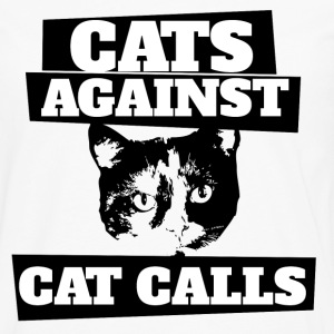 Cats against catcalls feminist saying - Men's Premium Long Sleeve T-Shirt