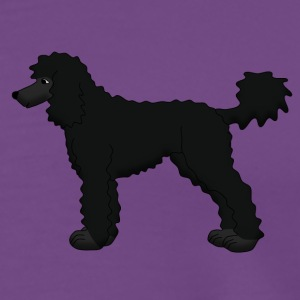 poodle black Tanks - Men's Premium T-Shirt