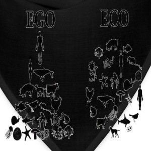 animal rights ego vs eco Hoodies - Bandana