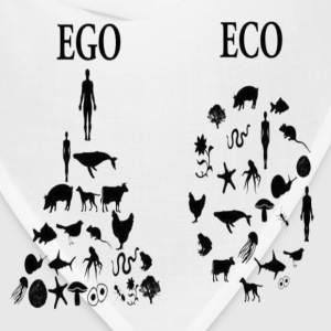 animal rights ego vs eco Mugs & Drinkware - Bandana