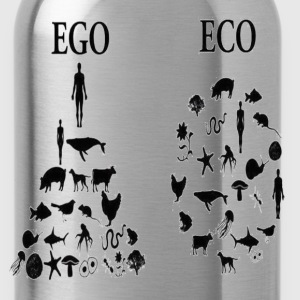 animal rights ego vs eco T-Shirts - Water Bottle