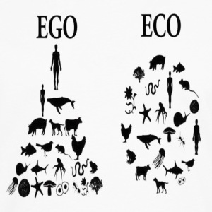 animal rights ego vs eco Tanks - Men's Premium Long Sleeve T-Shirt
