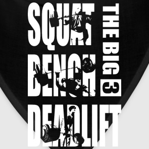 Powerlifting - Big 3 - Squat, Bench, Deadlift T-Shirts - Bandana