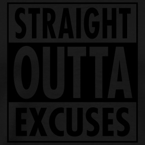 Straight Outta Excuses Tank Tops - Men's Premium T-Shirt