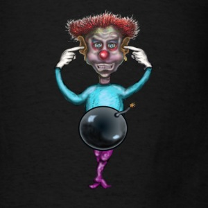 clown with bomb  Bags & backpacks - Men's T-Shirt