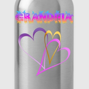 GRANDMA, Love and Hearts - Water Bottle