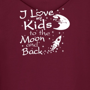 I Love My Kids to the Moon and Back - Men's Hoodie