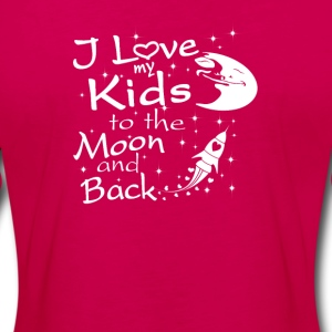 I Love My Kids to the Moon and Back - Women's Premium Long Sleeve T-Shirt