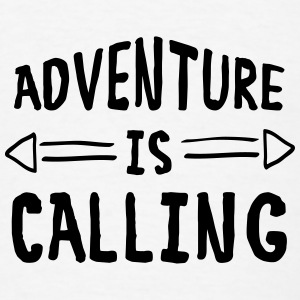 Adventure Is Calling Tanks - Men's T-Shirt