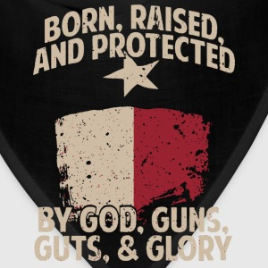 texas pride, gun texas love flag, Military flag - Bandana