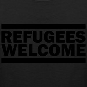refugees welcome T-Shirts - Men's Premium Tank