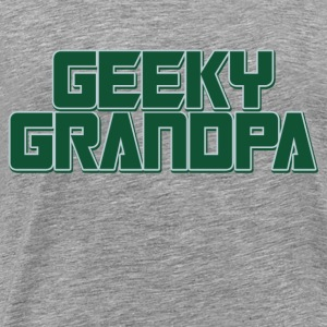 Geeky Grandpa for Grandparents day - Men's Premium T-Shirt