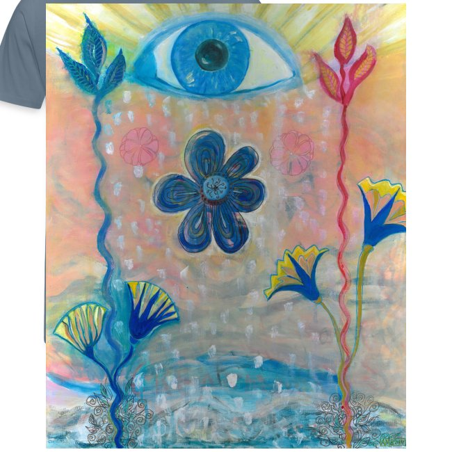 The Eye of Wisdom, Men's Tie Dye T-shirt