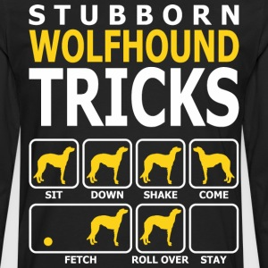 Stubborn Wolfhound Dog Tricks - Men's Premium Long Sleeve T-Shirt