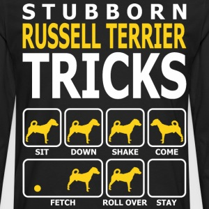 Stubborn Russell Terrier Dog Tricks - Men's Premium Long Sleeve T-Shirt