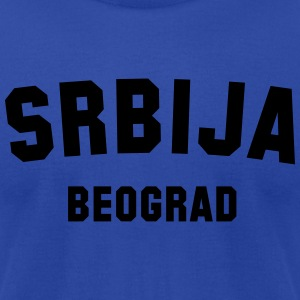 SERBIA BELGRADE - Men's T-Shirt by American Apparel