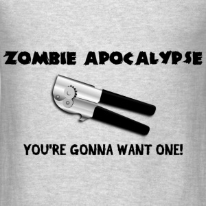 zombie apocalypse can opener - Men's T-Shirt