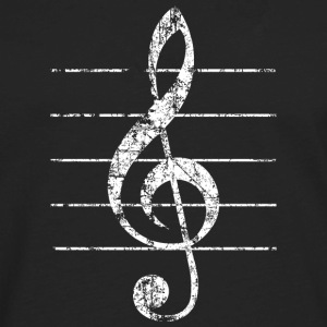 Treble Clef T-Shirt (Women/Black) - Men's Premium Long Sleeve T-Shirt