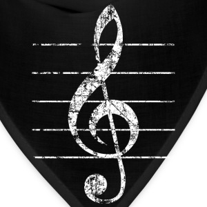 Treble Clef T-Shirt (Men/Black) - Bandana