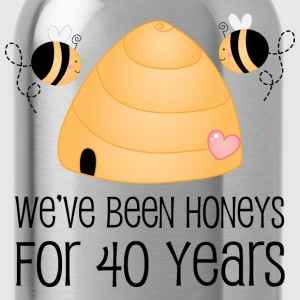 40th Anniversary Honey Bees T-Shirts - Water Bottle
