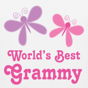 Worlds Best Grammy butterfly Women's T-Shirts - Men's Premium Tank