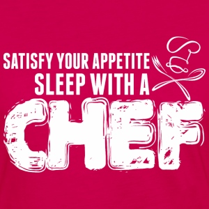 Satisfy Your Appetite Sleep With A Chef - Women's Premium Long Sleeve T-Shirt