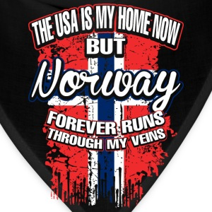 The USA Is My Home Now But Norway Forever Runs - Bandana