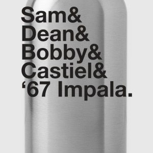 SUPERNATURAL Dean and Sam WINCHESTER Castiel Bobby - Water Bottle