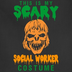 This Is My Scary Social Worker Costume - Adjustable Apron