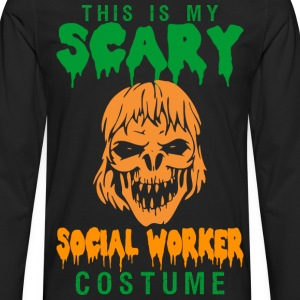 This Is My Scary Social Worker Costume - Men's Premium Long Sleeve T-Shirt