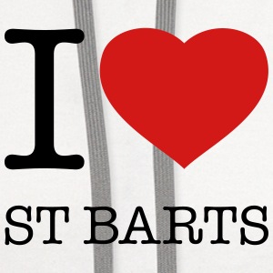 I LOVE ST BARTS - Contrast Hoodie