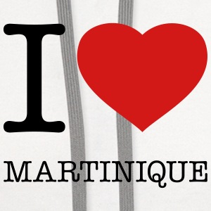 I LOVE MARTINIQUE - Contrast Hoodie