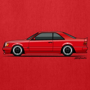 Mercedes W124 300CE AMG Red T-Shirts - Tote Bag