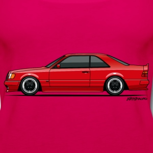 Mercedes W124 300CE AMG Red T-Shirts - Women's Premium Tank Top
