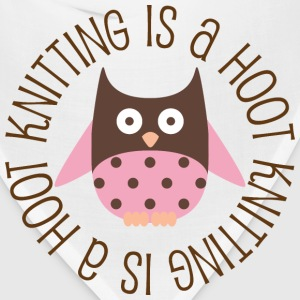 Knitting Is A Hoot Women's T-Shirts - Bandana