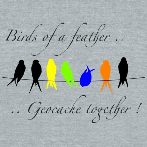 GeoBirds of a Feather - Unisex Tri-Blend T-Shirt by American Apparel