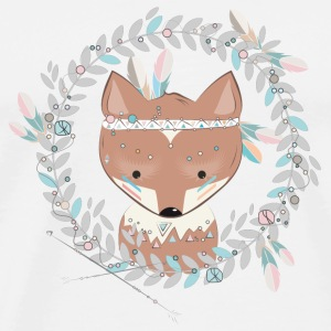 little fox with feather headdress Buttons - Men's Premium T-Shirt